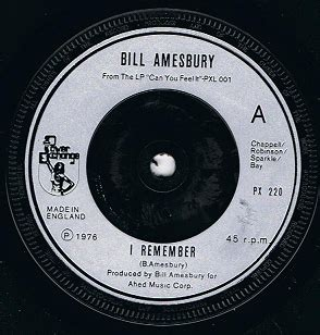 bill amesbury bill amesbury i remember 7 single vinyl record 45rpm power