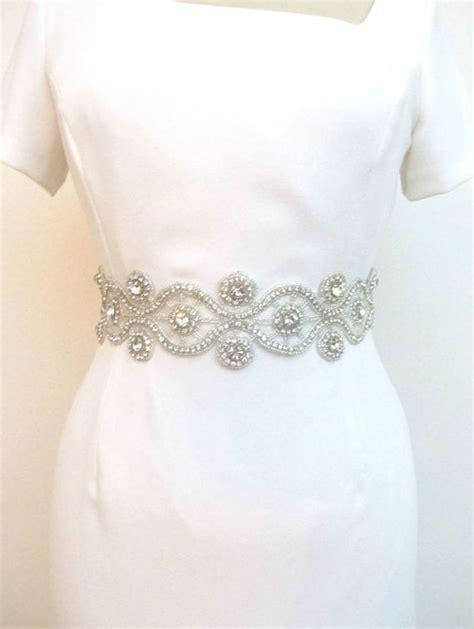 beaded belts for dresses bridal rhinestone belts beaded wedding sash by