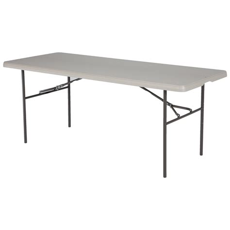 6 Ft Folding Table 6 Ft Folding Table 6 Ft Showgoer Folding Table Foldable Tables Trade Show Accessories 6 Foot