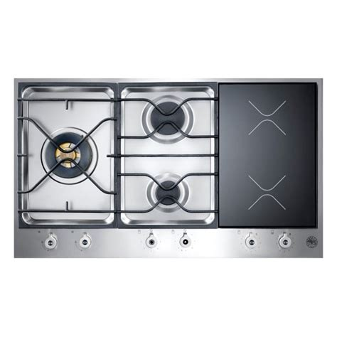 Gas Cooktop With Induction Burner bertazzoni pm363i0x design series 36 segmented gas induction cooktop with 2 induction zones