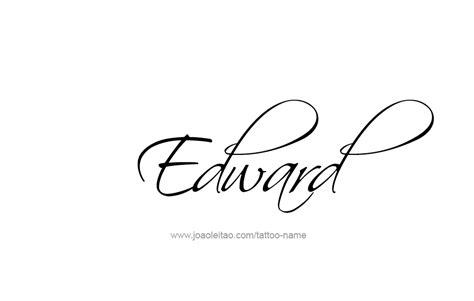 tattoo name edward edward name tattoo designs