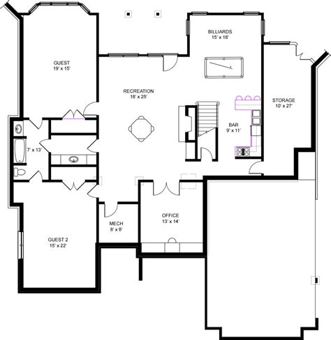 Home Plans With Basement Floor Plans | unique free house plans with basements 9 ranch house
