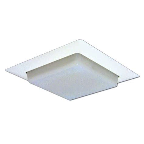 recessed ceiling light trim halo 8 in white recessed ceiling light square trim with