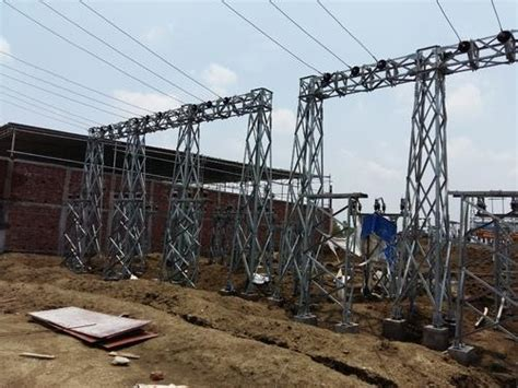 steel structural design  drawings structural design drawing  substation gantry towers