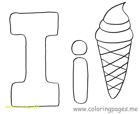I Alphabet Coloring Pages by Letter I Coloring Pages For Preschoolers