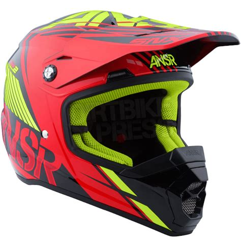 answer motocross helmets 2016 answer snx 2 0 helmet flo black acid