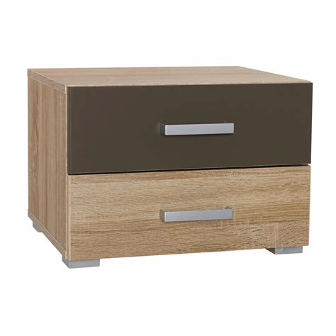 2 Drawer Bedside Table by Zamoa Sonoma Oak 2 Drawer Bedside Table