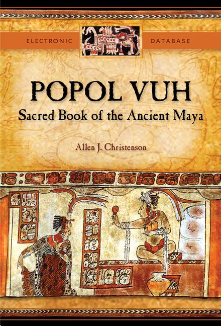 libro sacred a novel popol vuh cd rom sacred book of the ancient maya electronic database by allen j christenson