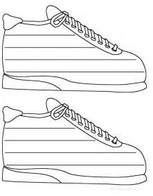 Sneaker Template by Sneakers Shape Poem Printable Worksheet