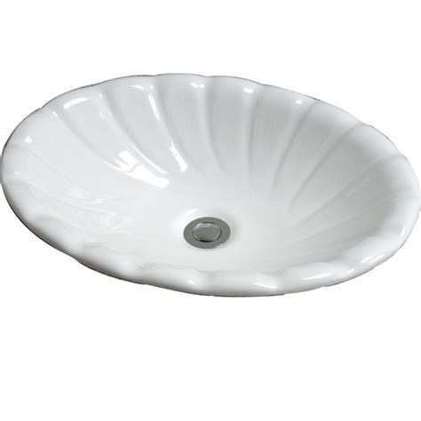 home depot drop in bathroom sinks pegasus corona drop in bathroom sink in white 4 465wh the home depot