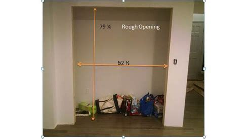 Closet Door Opening by How To Install Closet Bi Pass Doors