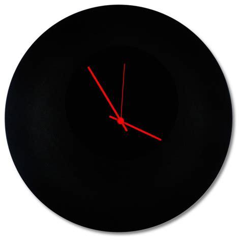 minimalistic wall clock blackout circle clock minimalist modern black metal