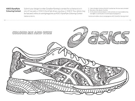 Running Shoes Coloring Pages design your own colourway for a chance to win a pair of