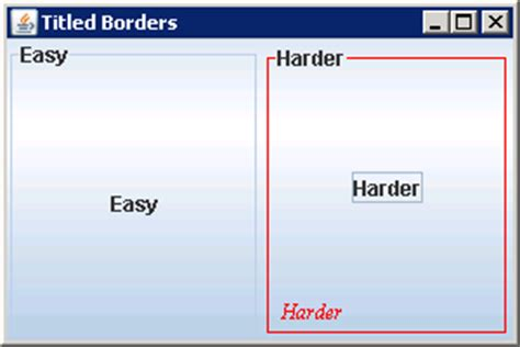 java swing borders titledborder based on lineborder titiledborder 171 swing