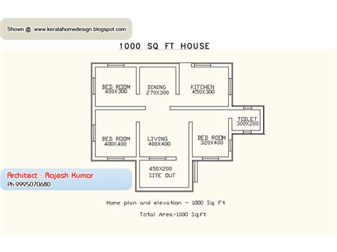 home design for 1000 sq ft home plan and elevation 1000 sq ft kerala home design