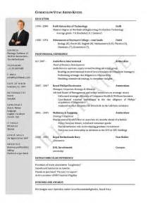 Curriculum Vitae Template by Cv Template University Student Google Search Cv