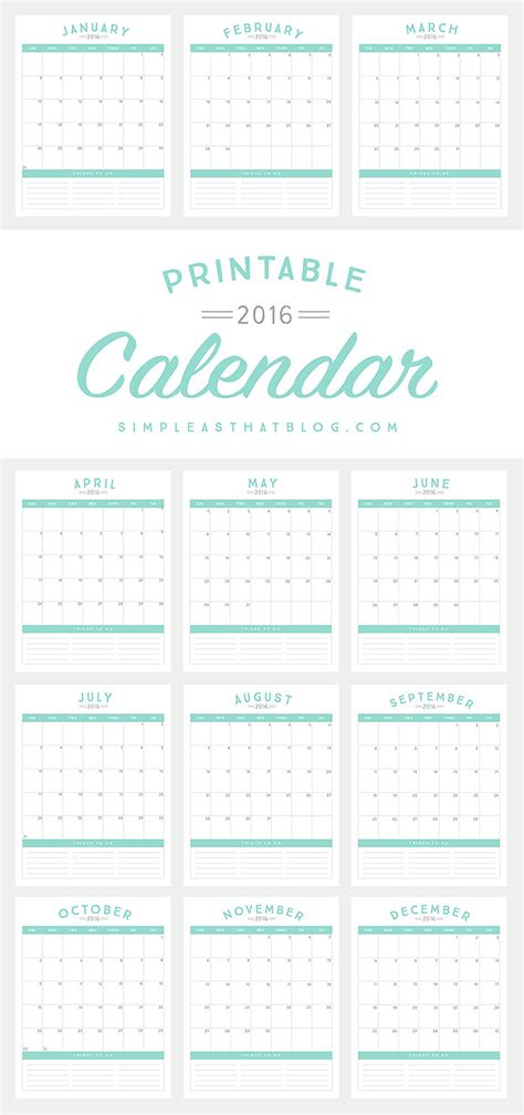 Free Organizational Printables To Streamline Your To Do Lists Your Schedule Your Meal Plans Promo Calendar Template