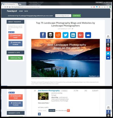Landscape Photography Websites My Page Entered The Feedspot 75 Best Landscape Photography