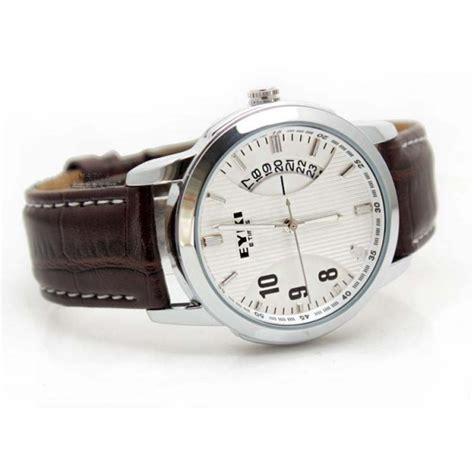 Jam Tangan Skmei 9113 Casual Kulit Tanggal jam tangan casual pria merk eyki