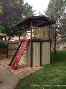 fort turned into storage shed then back into a
