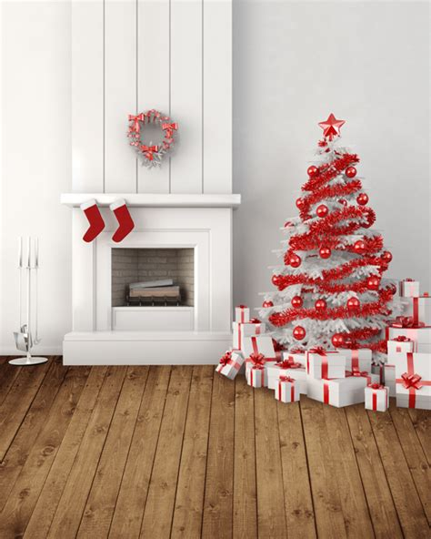 living room christmas tree gifts 5x7ft photo background