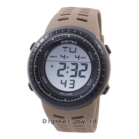 Jam Tangan Pria Original Terlaris Anti Air Murah Terbaru Gshock 11 digitec dg 3032t brown jam tangan sport anti air murah