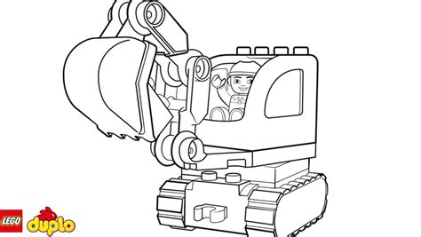 lego duplo coloring page lego 174 duplo 174 tracked excavator coloring page coloring