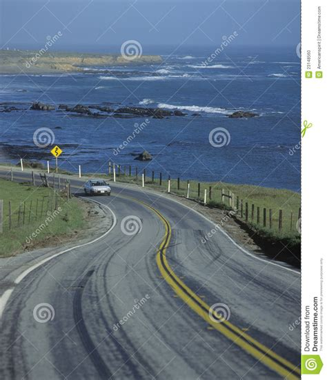 Traffic Report Pch - red car on pacific coast highway ca editorial image image 23148560