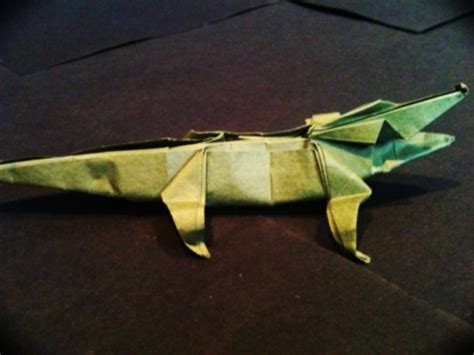 Origami Alligator - origami crocodile simple by mrchrizpy on deviantart