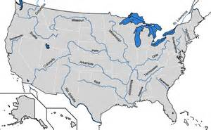 map of the rivers of the united states file map of major rivers in us png
