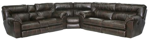 catnapper power reclining sofa power reclining sectional sofa with left console by