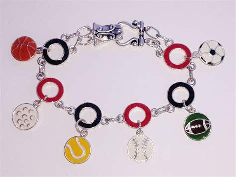 soccer sports theme charm bracelet