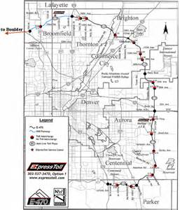 road map of denver colorado denver toll road map denver mappery