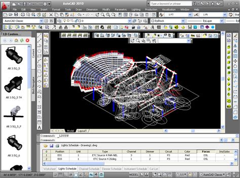 lighting layout design software stage lighting design cad software