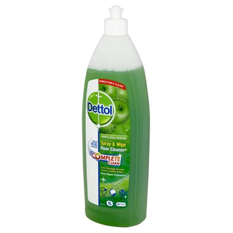 dettol spray wipe floor cleaner apple 1l from ocado