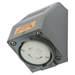 hubbell wiring device receptacle twist lock l14 30 twist lock devices hbl2710ar standard