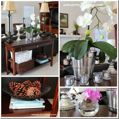 decorating a sofa table the scoop on creating fall vignettes blog hop setting