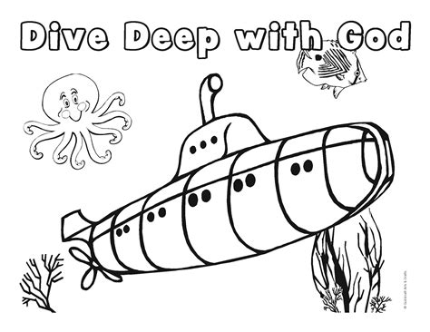 Underwater Themed Coloring Pages | vbs underwater coloring sheet submerged coloring pages