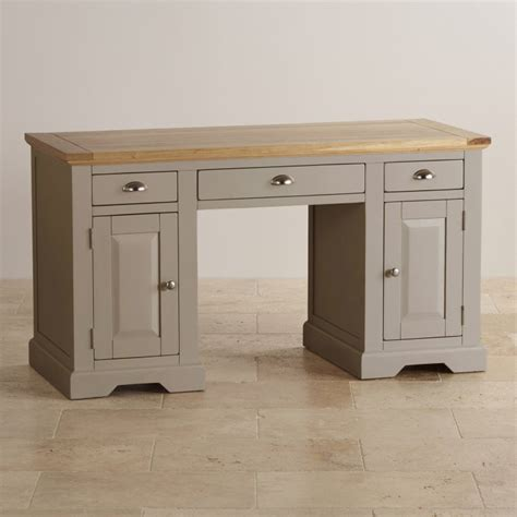 Gray Computer Desk by St Ives Computer Desk In Painted Acacia Oak Furniture Land
