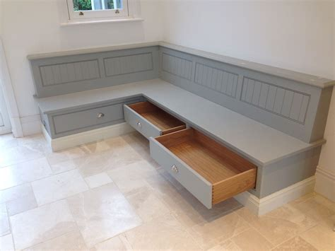 built in kitchen table bench tom howley bench seat with storage draws banquettes