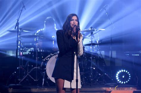 dua lipa on stage martin garrix dua lipa perform on quot the tonight show