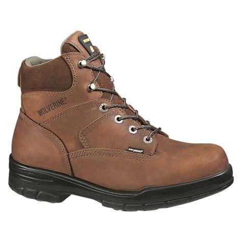wolverine durashock boots wolverine durashock 6 inch steel toe work boot w02053