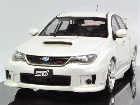 Diecast Subaru ebbro subaru impreza wrx sti white diecast model 1