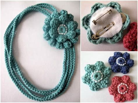 Decor Home Ideas Best crochet flower necklace 2 x free pdf pattern my hobby