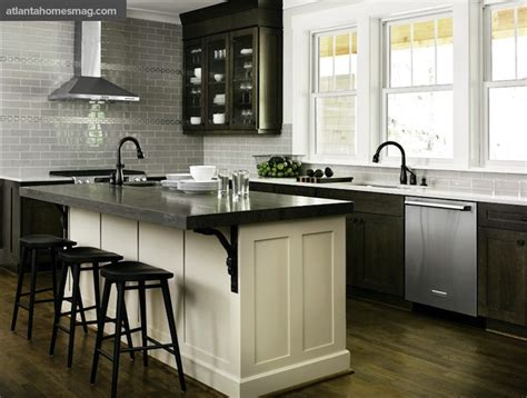 Distressed kitchen cabinets contemporary kitchen atlanta homes