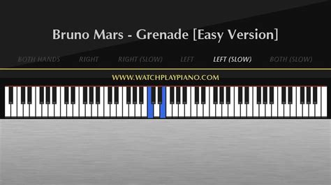 tutorial piano grenade bruno mars grenade easy piano tutorial youtube