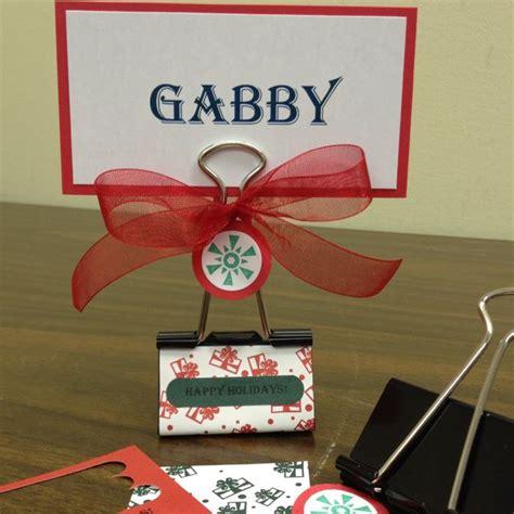 diy name cards diy place card holder large binder clip 2