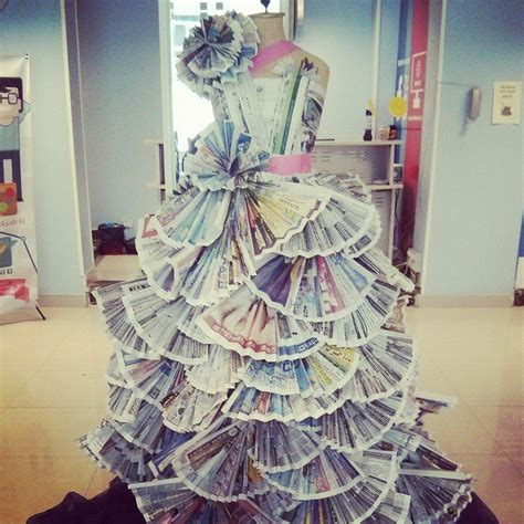 Outens Plight To Make Recycling Fashionable by Newspaper Dress Newspaper And Wearable On