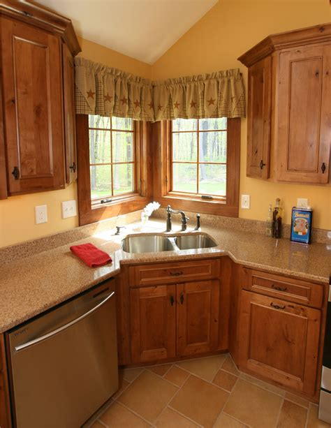 kitchen sinks corner style this is a beautiful showplace kitchen featuring our rustic
