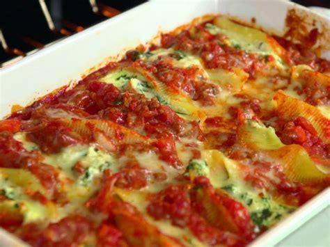 spinach and ricotta stuffed shells recipe deen